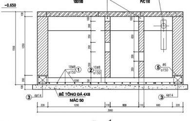 tiêu chuẩn thiết kế bể tự hoại 3 ngăn